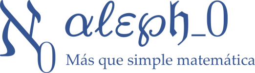 Logo of Alephsub0 - Más que simple matemática